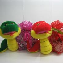 Змея 16см  мешок для подарков 2цв.141-423 купить оптом и в розницу