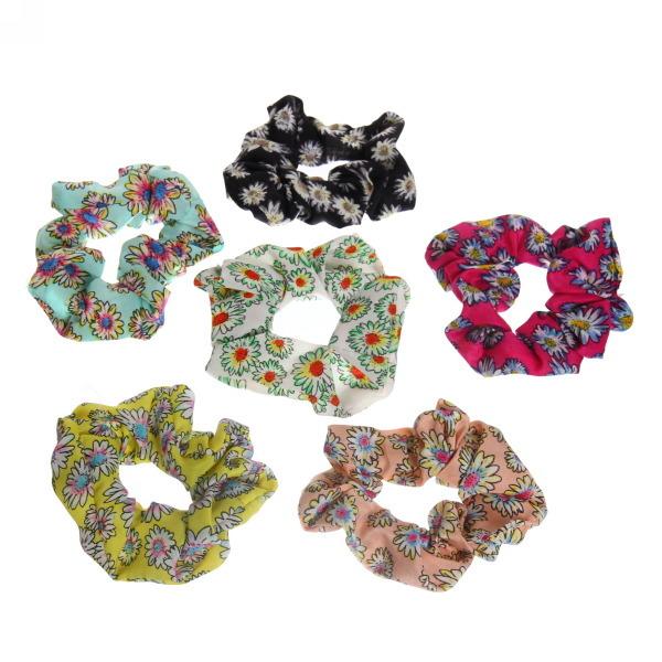 Резинка для волос текстиль ромашка 591-20 купить оптом и в розницу