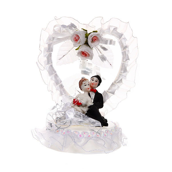 Статуэтка ″Свадебная коллекция″ Сердечко с розами 14*10см 205 купить оптом и в розницу