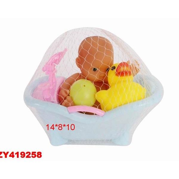 Пупс 582-5ВС с ванночкой в сетке купить оптом и в розницу