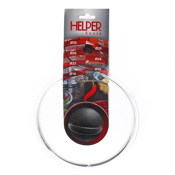 Крышка стеклянная 20 см, термостойкая, высокая HELPER купить оптом и в розницу