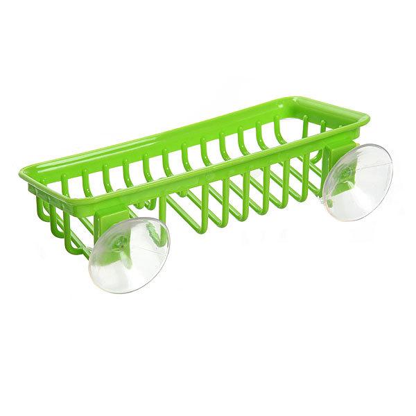 Мыльница на присоске 21.5х10.5 см зеленая купить оптом и в розницу