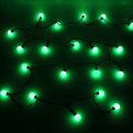Гирлянда светодиодная 4,5м, 20 ламп LED, Шар, Зеленый, 8режимов, черн.пров. купить оптом и в розницу