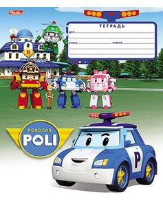 """Тетрадь 12л.кл.скрепка HATBER, """"Машинки - Роботы (Robocar Poli)"""" купить оптом и в розницу"""