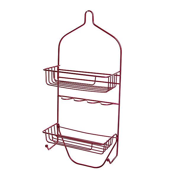 Полка для ванны металлическая 50х23,5х11см. розовая E0029-C купить оптом и в розницу