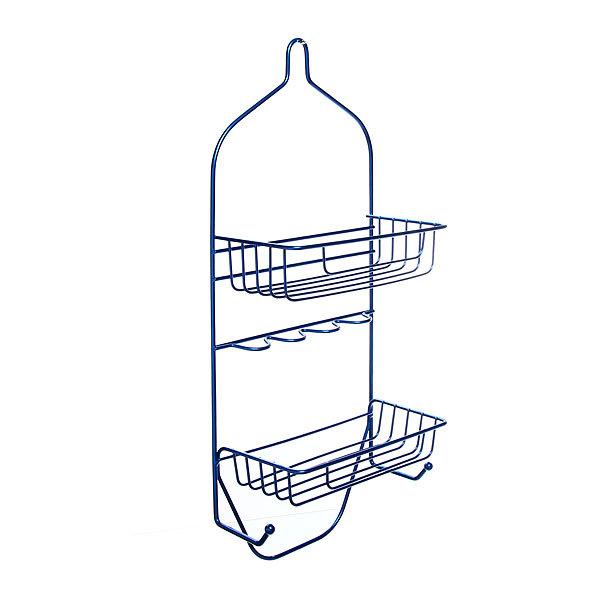 Полка для ванны металлическая 50х23,5х11см. синяя E0029-C купить оптом и в розницу