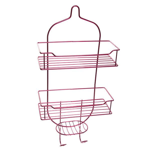 Полка для ванны металлическая 57х27х11,5см. розовая E0027-C купить оптом и в розницу