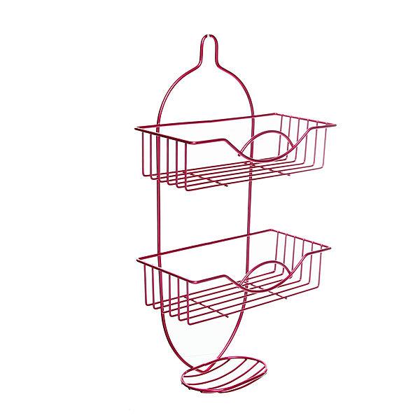 Полка для ванны металлическая 49х25,5х12см. розовая E0019-C купить оптом и в розницу