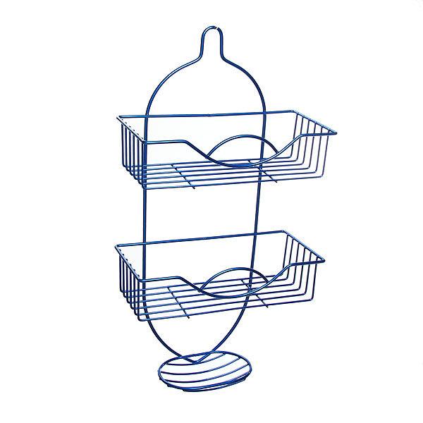 Полка для ванны металлическая 49х25,5х12см. синяя E0019-C купить оптом и в розницу