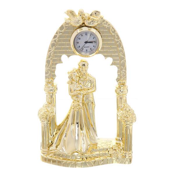 Часы сувенирные ″Венчание″ 19см под золото 5542F купить оптом и в розницу