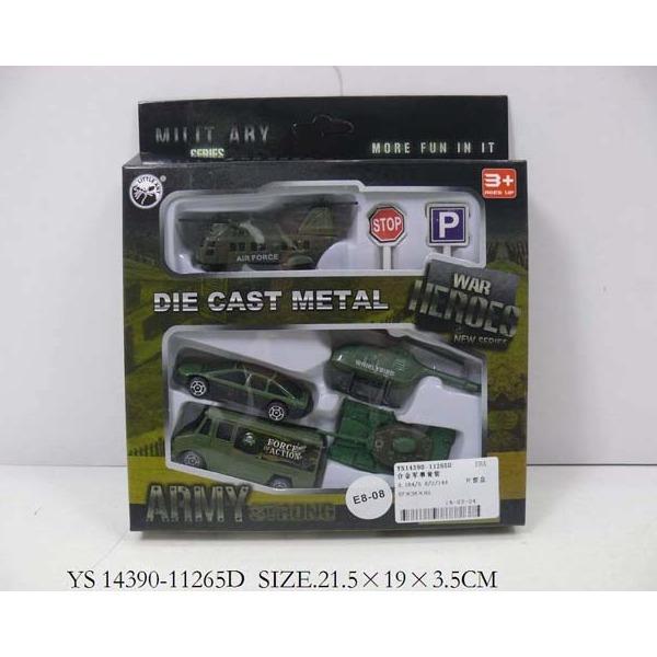 Набор машин металл 11265D-ВА Военный LITTLE ANT купить оптом и в розницу