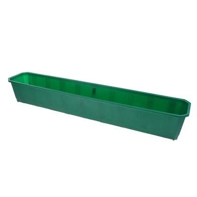 Ящик балконный 100 см темно-зеленый  *20 купить оптом и в розницу