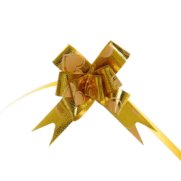 Бант-бабочка ″Золото″, набор 10 шт., 22 см купить оптом и в розницу