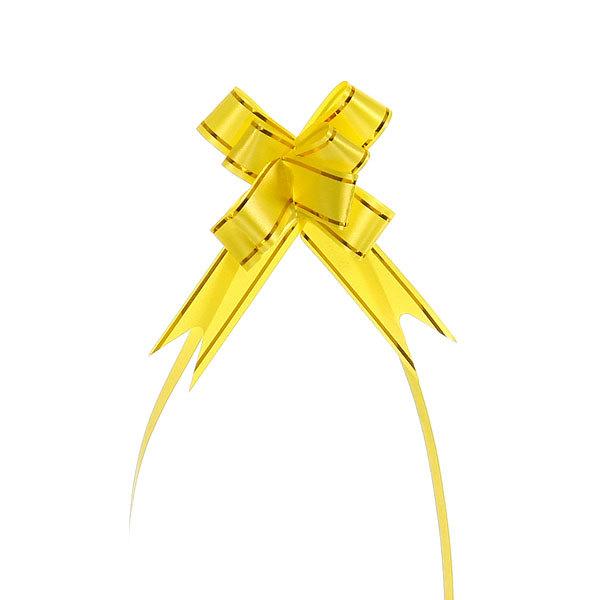 Бант-бабочка желтый с золотой полоской, 26 см купить оптом и в розницу