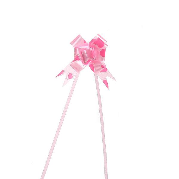Бант-Бабочка (набор 10шт) №12 Розовые сердечки 22см 14 купить оптом и в розницу