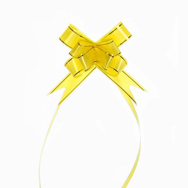 Бант-бабочка ″Золотой блеск″ желтый, набор 10 шт., 35 см купить оптом и в розницу