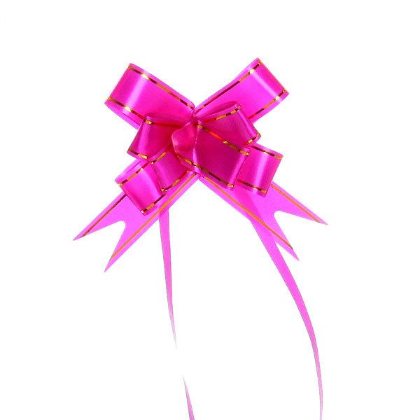 Бант-бабочка ″Золотой блеск″ малиновый, набор 10 шт., 35 см купить оптом и в розницу
