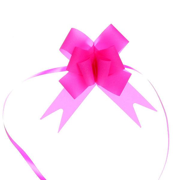 Бант-бабочка ″Блеск″ малиновый, набор 10 шт., 47 см купить оптом и в розницу