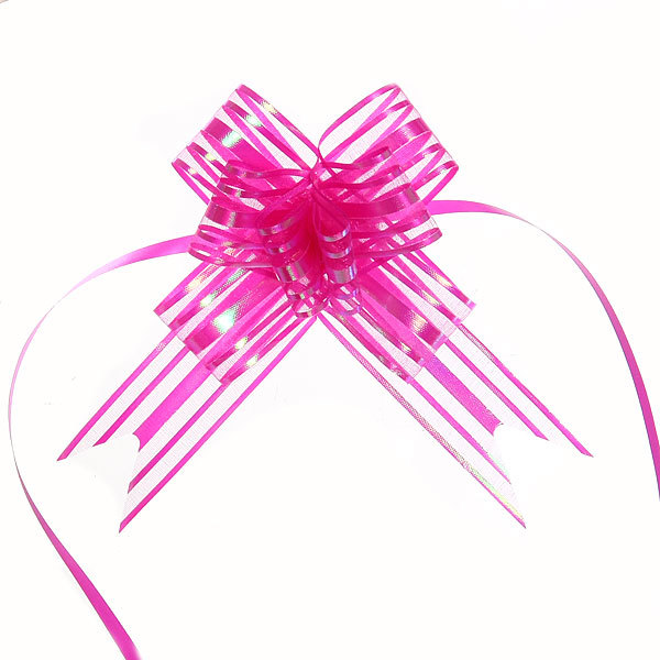 Бант-бабочка полоски розовые, набор 10 шт. 50 см купить оптом и в розницу