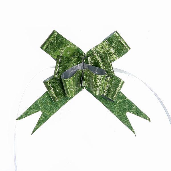 Бант-бабочка ″Бархат″ зеленый, 35 см купить оптом и в розницу