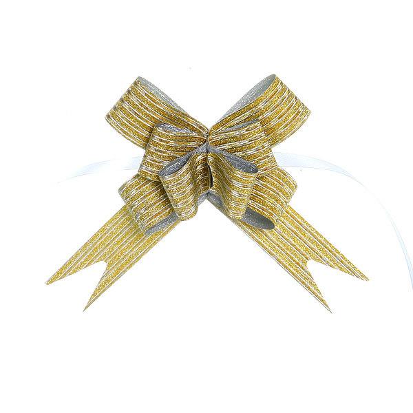 Бант-Бабочка ″Кристал″ (набор 10шт) №18 золотой 35см 31 купить оптом и в розницу