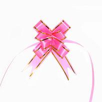 Бант-Бабочка ″Золотая полоса″ (набор 10шт) №23 розовый 42см 34 купить оптом и в розницу