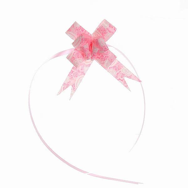 Бант-бабочка розовый с сердечками, набор 10 шт, 42 см купить оптом и в розницу