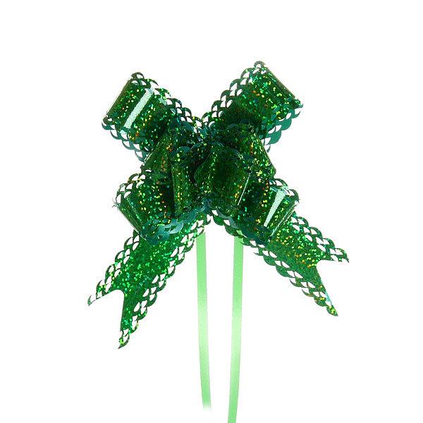 Бант-бабочка ажурный, зеленая голограмма, набор 10 шт., 47 см купить оптом и в розницу