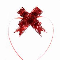 Бант-Бабочка ″Голограмма ажур″ (набор 10шт) №30 красный 47см 41 купить оптом и в розницу