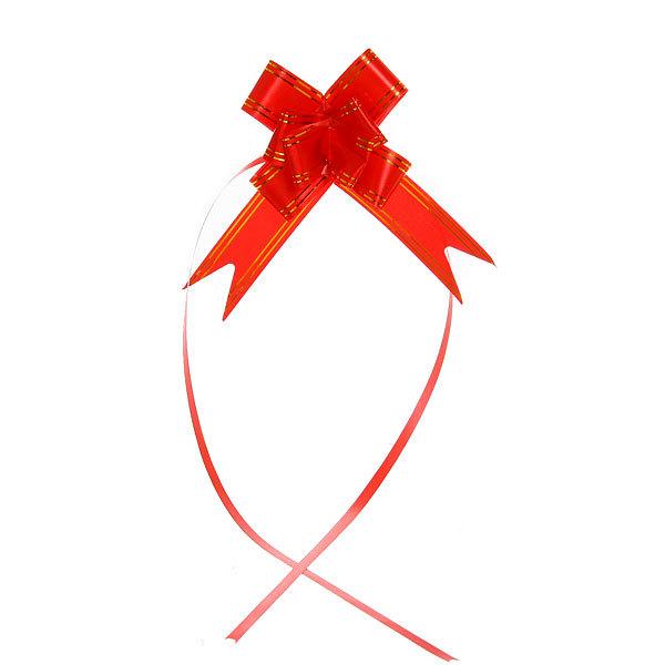 Бант-Бабочка ″Золотая полоса″ (набор 10шт) №30 красный 47см 45 купить оптом и в розницу