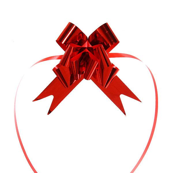 Бант-бабочка ″Блеск″ красный, набор 10 шт., 46 см купить оптом и в розницу