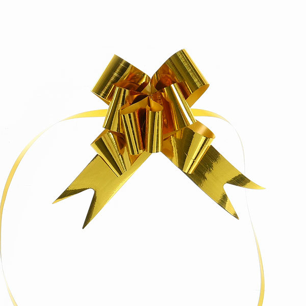 Бант-бабочка ″Блеск″ золотой, набор 10 шт, 46 см купить оптом и в розницу