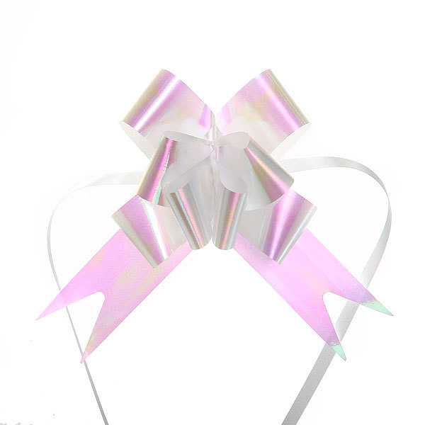Бант-бабочка ″Блеск″ белый, набор 10 шт., 46 см купить оптом и в розницу