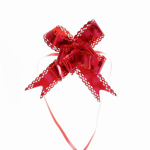 Бант-бабочка ажурный, красный, набор 10 шт., 46 см купить оптом и в розницу