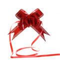 Бант-бабочка ажурный, голограмма, красный, набор 10 шт., 73 см купить оптом и в розницу