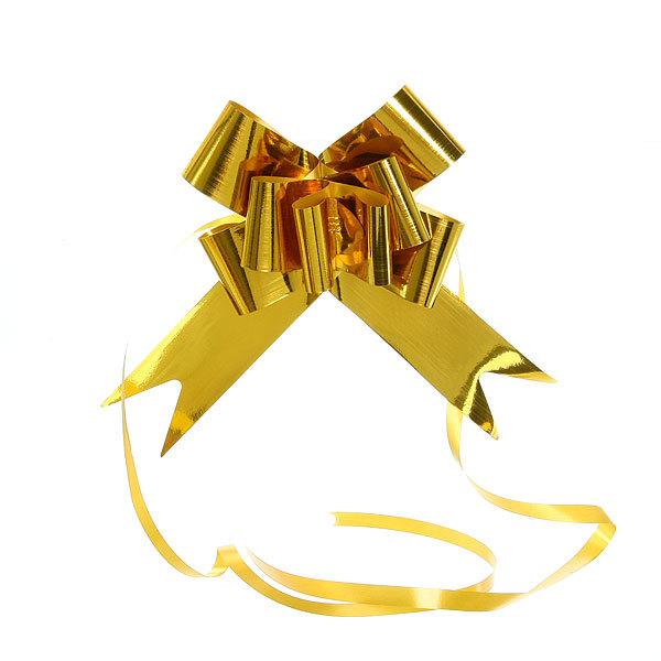 Бант-Бабочка ″Блеск″ (набор 10шт) №50 золото 73см 55 купить оптом и в розницу