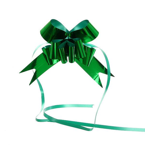 Бант-бабочка ″Блеск″ зеленый, набор 10 шт., 73 см купить оптом и в розницу