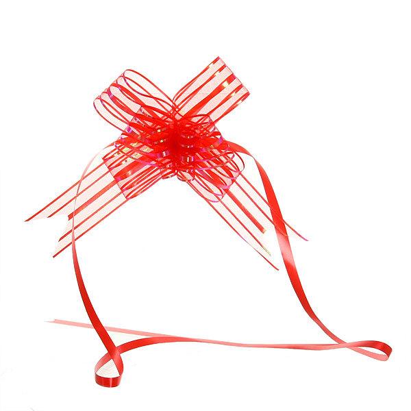 Бант-Бабочка ″Перламутр″ (набор 10шт) №50 красный 73см 60 купить оптом и в розницу