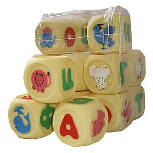 Рез. Набор кубиков Веселая Азбука СИ-105 купить оптом и в розницу