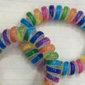 Резинки для волос силиконовые 5шт ″Яркая Радуга″, цвет микс d-5.5см купить оптом и в розницу