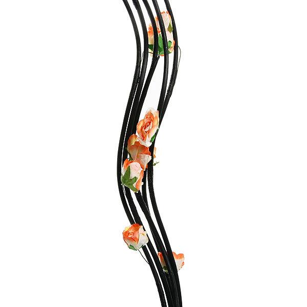 Цветок искусственный 150см ветка Розы 5шт купить оптом и в розницу