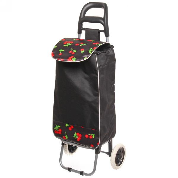Тележка хозяйственная с сумкой (96*36*33см, колеса 16см,грузоподъемность до 30 кг.) вишенка купить оптом и в розницу