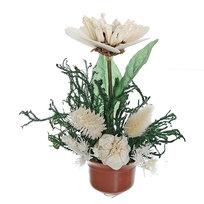 Цветок искусственный в горшочке ″Нежный букетик белый″ 16 см 0803В2 купить оптом и в розницу