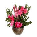 Цветок искусственный в горшочке ″Нежный букетик розовый″ 18 см 2201В1 купить оптом и в розницу