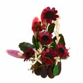 Цветок искусственный в горшочке ″Нежный букетик бордовый″ 29 см Т078 купить оптом и в розницу