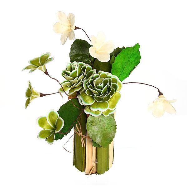 Цветок искусственный в горшочке ″Нежный букетик зеленый″ 31 см Т035 купить оптом и в розницу