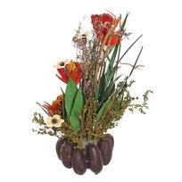 Цветок искусственный в горшочке ″Нежный букетик оранжевый″ 32 см Т039 купить оптом и в розницу