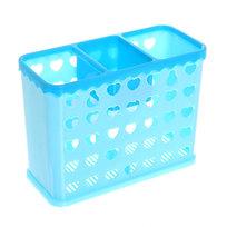 Подставка для столовых приборов 16*7*12см пластиковая, 3 секции 0222 купить оптом и в розницу