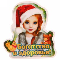 Магнит ″Богатства и здоровья!″, Снегурочка купить оптом и в розницу