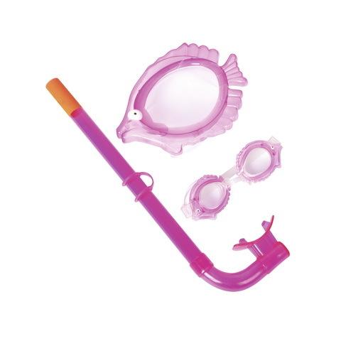Набор для подводного плавания детский Character: маска,трубка,очки Bestway (24019) купить оптом и в розницу